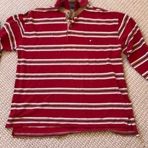 Vintage worn Long Sleeve Tommy Hilfiger Polo *RARE